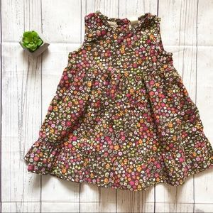 OshKosh Floral Corduroy Dress